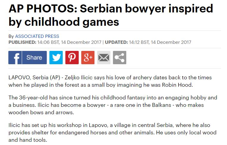 Serbia Bowyer Photo Gallery